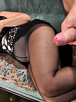 MaturesAndPantyhose :: Christiana&Nicholas pantyhosefucking awesome mature lady