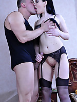 LoveNylons :: Ellen F&Nicholas sexy stockings games